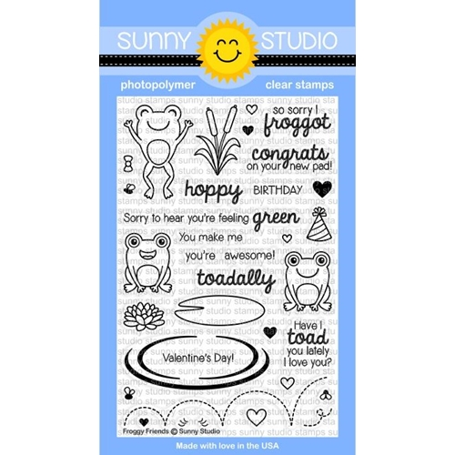 Sunny Studio FROGGY FRIENDS Clear Stamp Set SSCL149 Preview Image