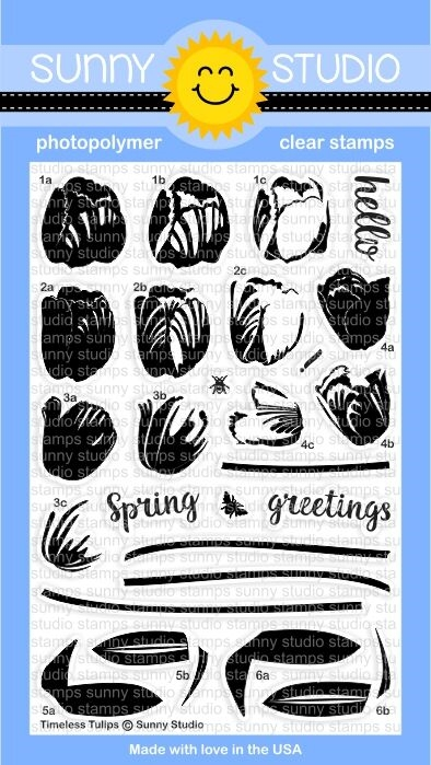 Sunny Studio TIMELESS TULIPS Clear Stamp Set SSCL156 zoom image