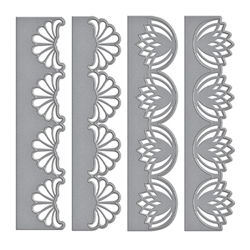 S4-703 Spellbinders GRACEFUL FANS Card Creator Amazing Paper Grace by Becca Feeken Etched Dies