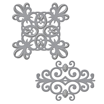 S3-252 Spellbinders IRON ROMANCE Accents Etched Dies