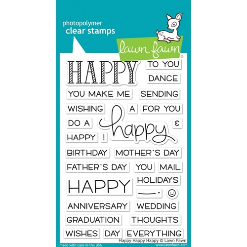 Lawn Fawn HAPPY HAPPY HAPPY Clear Stamps LF1334 Preview Image