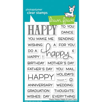 Lawn Fawn HAPPY HAPPY HAPPY Clear Stamps LF1334