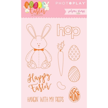 PhotoPlay HOPPY EASTER Clear Stamp Set HE2448