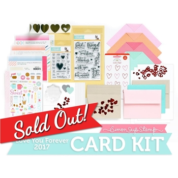 Limited Edition Simon Says Stamp Card Kit LOVE YOU FOREVER 2017 SSSLF17