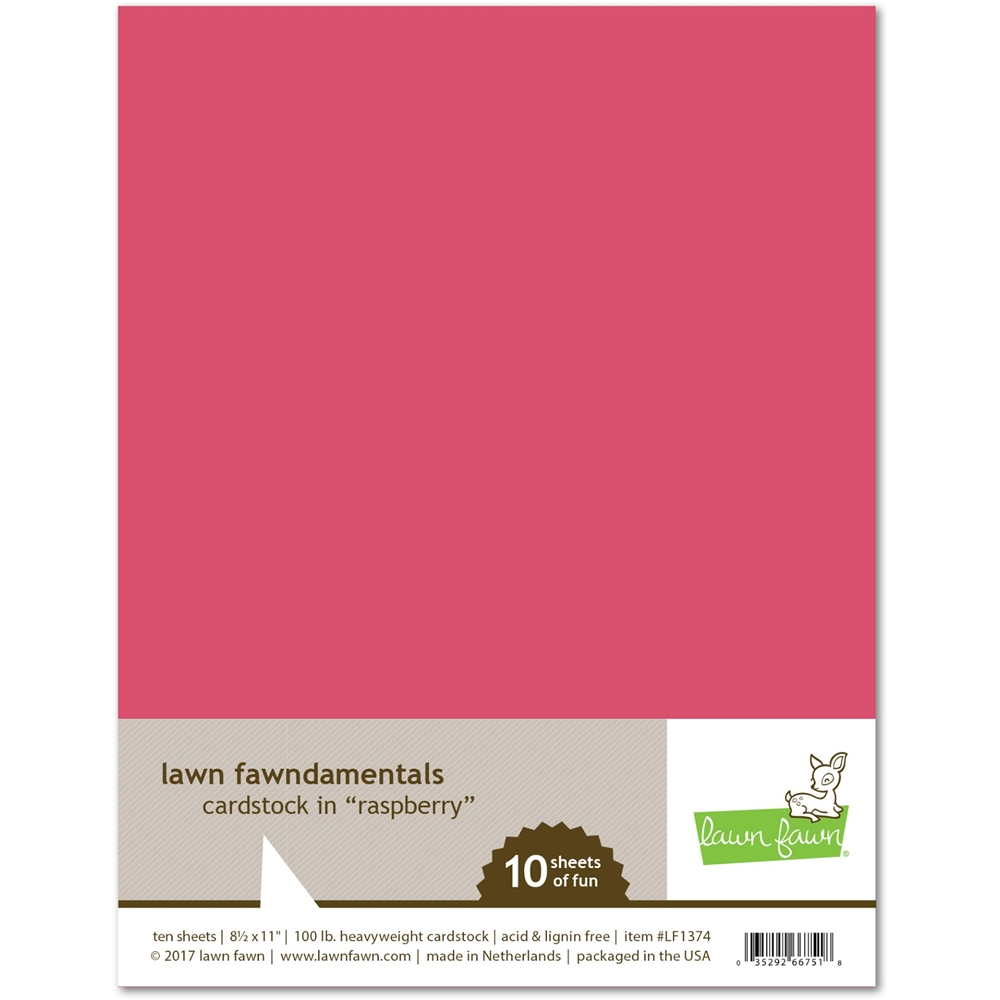 Lawn Fawn RASPBERRY Cardstock LF1374 zoom image