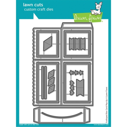 Lawn Fawn SCALLOPED BOX CARD POP-UP Lawn Cuts LF1376 Preview Image