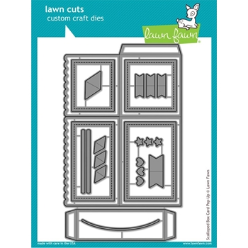 Lawn Fawn SCALLOPED BOX CARD POP-UP Lawn Cuts LF1376