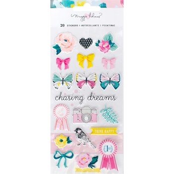 Crate Paper CHASING DREAMS Puffy Stickers 375953