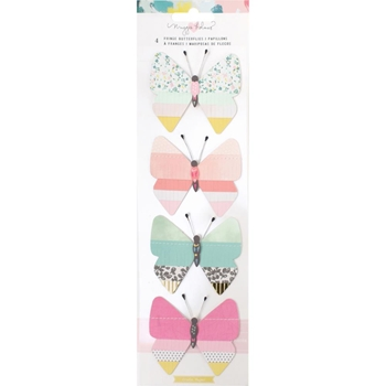 Crate Paper CHASING DREAMS Fringed Paper Butterflies 375960