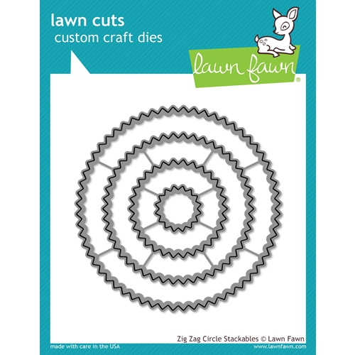 Lawn Fawn ZIG ZAG CIRCLE STACKABLES Lawn Cuts LF1383 Preview Image