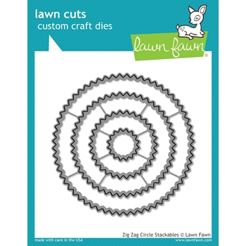 RESERVE Lawn Fawn ZIG ZAG CIRCLE STACKABLES Lawn Cuts LF1383