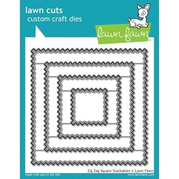 Lawn Fawn ZIG ZAG SQUARE STACKABLES Lawn Cuts LF1384
