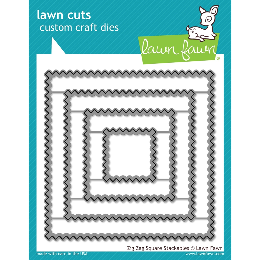 Lawn Fawn ZIG ZAG SQUARE STACKABLES Lawn Cuts LF1384 zoom image