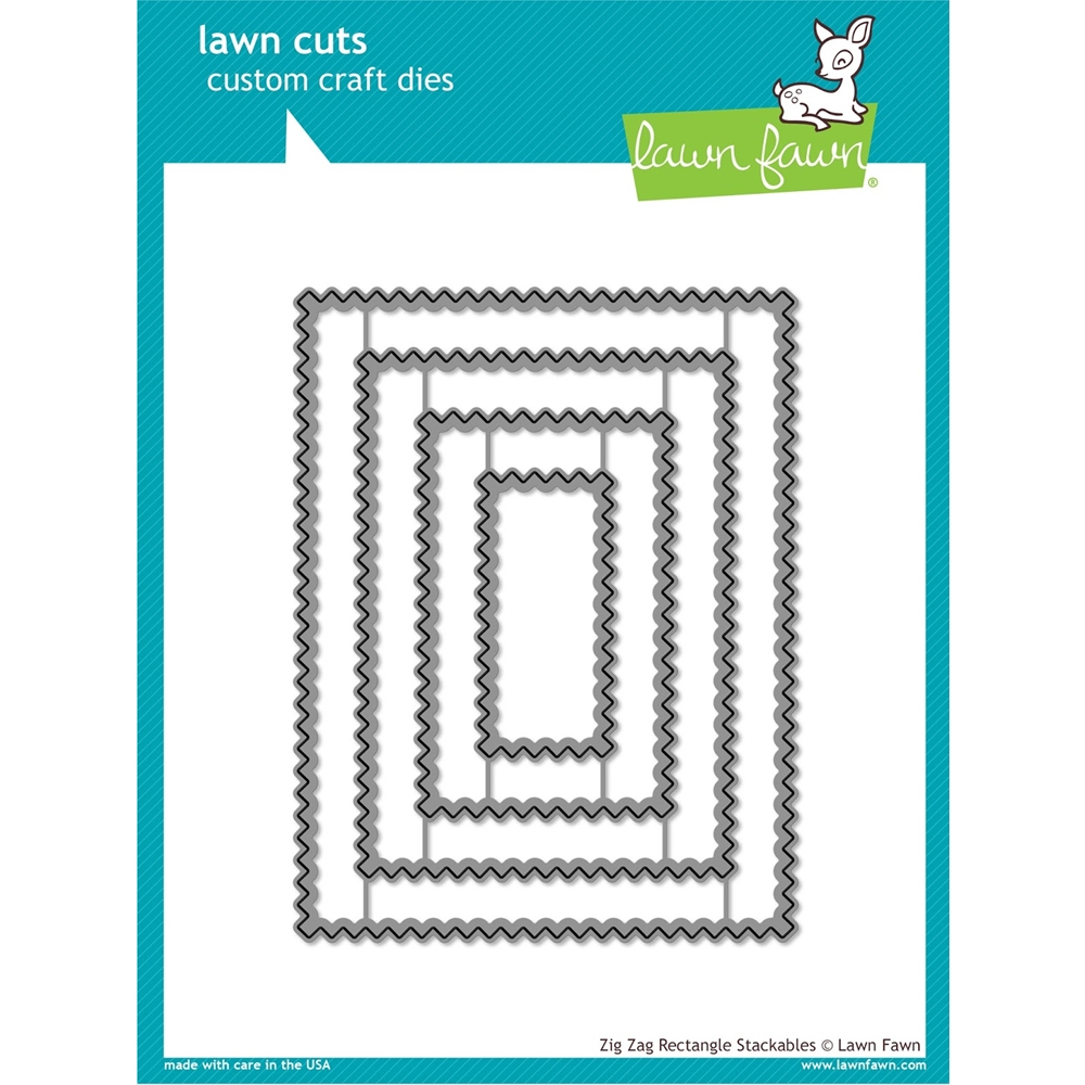 Lawn Fawn ZIG ZAG RECTANGLE STACKABLES Lawn Cuts LF1385 zoom image