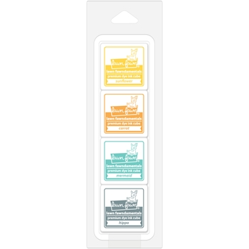 RESERVE Lawn Fawn TROPICAL ISLAND Premium Dye Ink Cube Pack LF1400