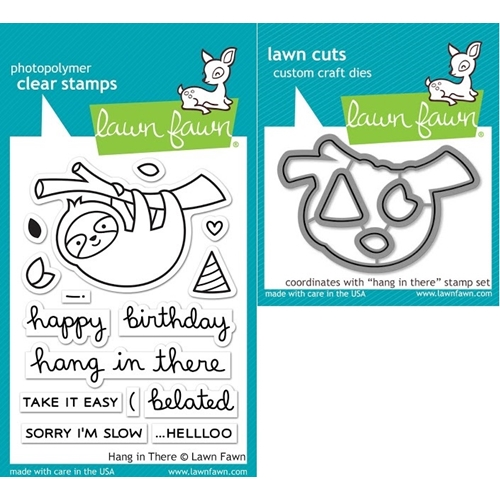 Lawn Fawn SET LF17SETHIT HANG IN THERE Clear Stamps and Dies Preview Image
