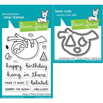 RESERVE Lawn Fawn SET LF17SETHIT HANG IN THERE Clear Stamps and Dies