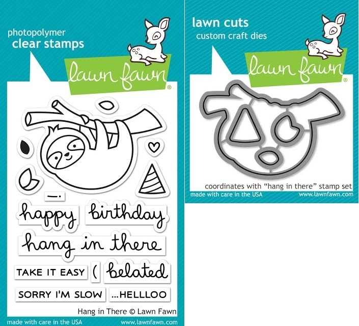 Lawn Fawn SET LF17SETHIT HANG IN THERE Clear Stamps and Dies zoom image