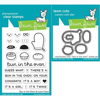 RESERVE Lawn Fawn SET LF17SETBITO BUN IN THE OVEN Clear Stamps and Dies