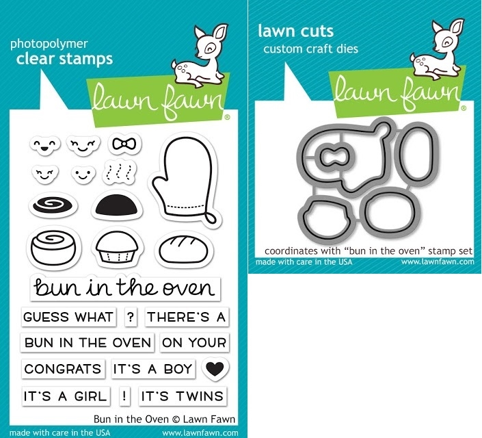 Lawn Fawn SET LF17SETBITO BUN IN THE OVEN Clear Stamps and Dies zoom image