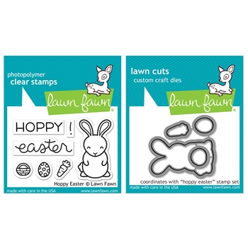 RESERVE Lawn Fawn SET LF17SETHE HOPPY EASTER Clear Stamps and Dies