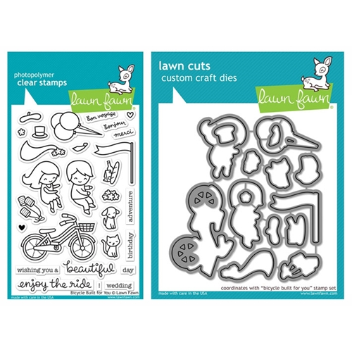 Lawn Fawn SET LF17SETBBFY BICYCLE BUILT FOR YOU Clear Stamps and Dies Preview Image
