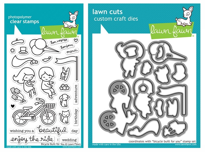 Lawn Fawn SET LF17SETBBFY BICYCLE BUILT FOR YOU Clear Stamps and Dies zoom image
