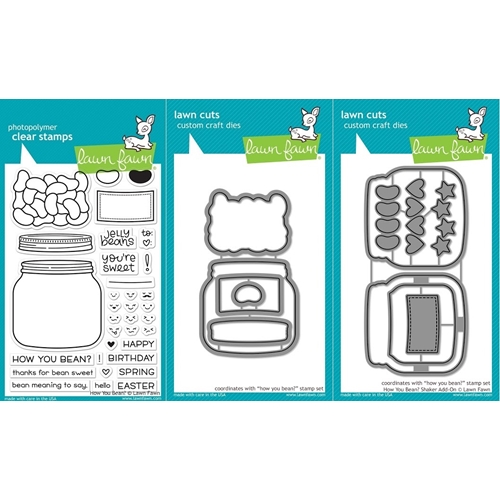 Lawn Fawn SET LF17SETHYB HOW YOU BEAN? Clear Stamps and Dies Preview Image