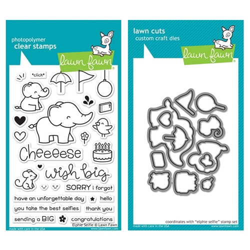 Lawn Fawn SET LF17SETES ELPHIE SELFIE Clear Stamps and Dies  Preview Image