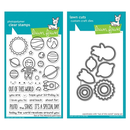 Lawn Fawn SET LF17SETOOTW OUT OF THIS WORLD Clear Stamps and Dies Preview Image