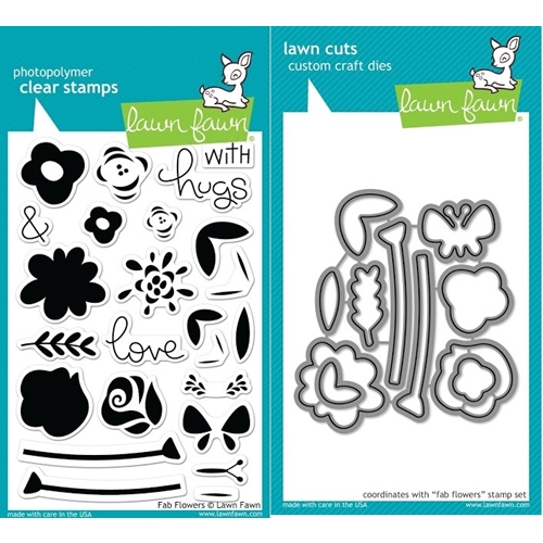 Lawn Fawn SET JLF17SETFF FAB FLOWERS Clear Stamps and Dies Preview Image