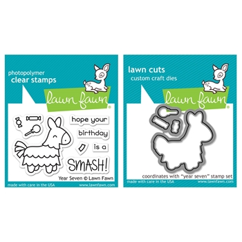 Lawn Fawn SET LF17SETYS YEAR SEVEN Clear Stamps and Dies