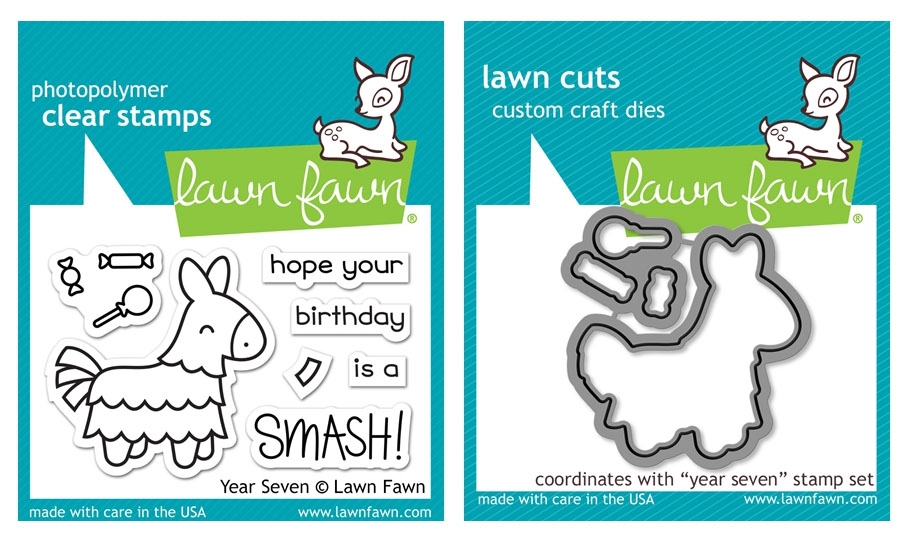 Lawn Fawn SET LF17SETYS YEAR SEVEN Clear Stamps and Dies zoom image