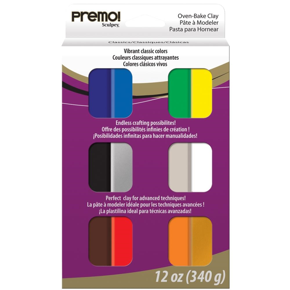 Premo Sculpey OVEN BAKE Polymer Clay Multipack PEVMC12 zoom image