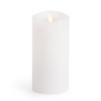 Luminara Unscented WHITE WAX 6 INCH Pillar Flameless Candle LM32600002