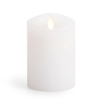 Luminara Unscented WHITE WAX 4 INCH Pillar Flameless Candle LM3240002