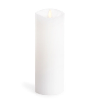 Luminara Unscented CLASSIC WHITE WAX 8 INCH Pillar Flameless Candle LM32800002