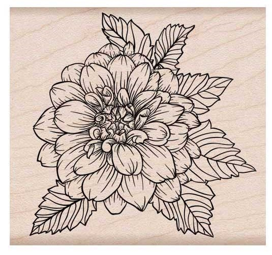 Hero Arts Rubber Stamps ARTISTIC DAHLIA K6214 zoom image