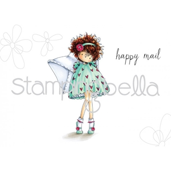 Stamping Bella Cling Stamp TINY TOWNIE LACEY HAS A LETTER Rubber UM EB455
