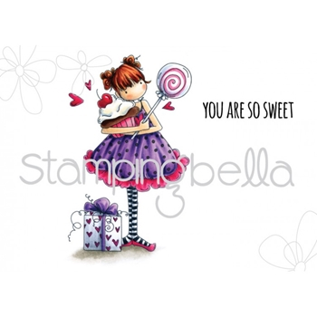 Stamping Bella Cling Stamp TINY TOWNIE SAMMY IS SWEET Rubber UM EB456