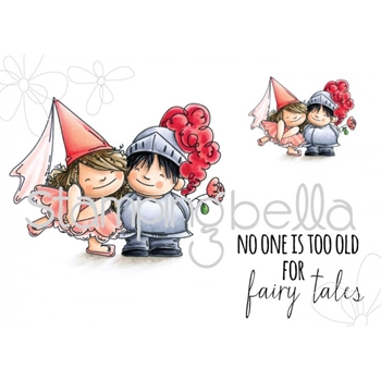 Stamping Bella Cling Stamp FAIRY TALE SQUIDGIES Rubber UM EB447