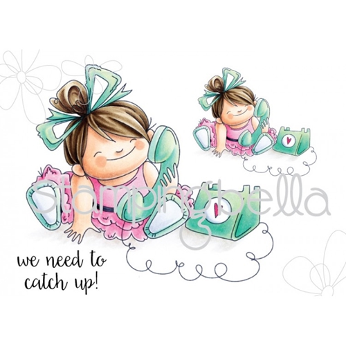 Stamping Bella Cling Stamp CHATTY SQUIDGIE Rubber UM EB467 Preview Image