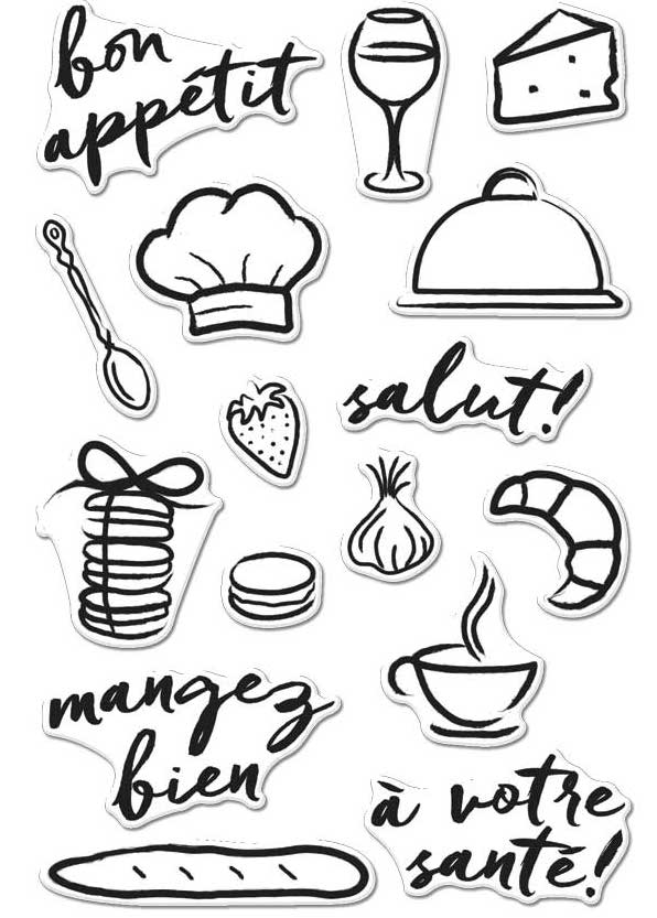 Hero Arts Clear Stamps BON APPETIT CM148 zoom image
