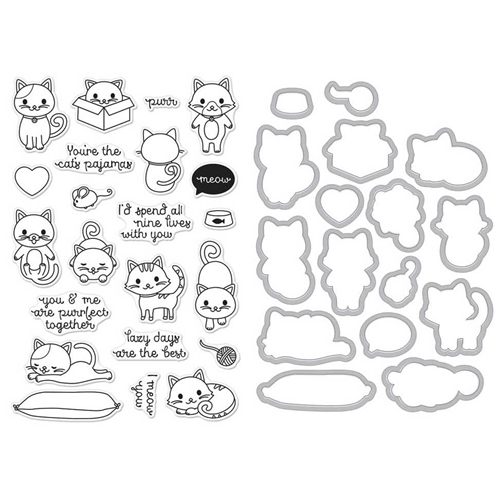 Hero Arts PURR Clear Stamp and Die Combo SB146 Preview Image