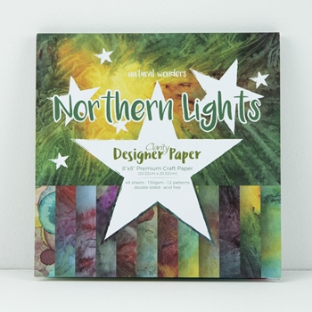 Claritystamp NORTHERN LIGHTS 8x8 Paper Pad Candy Shop Collection ACCCA3044388