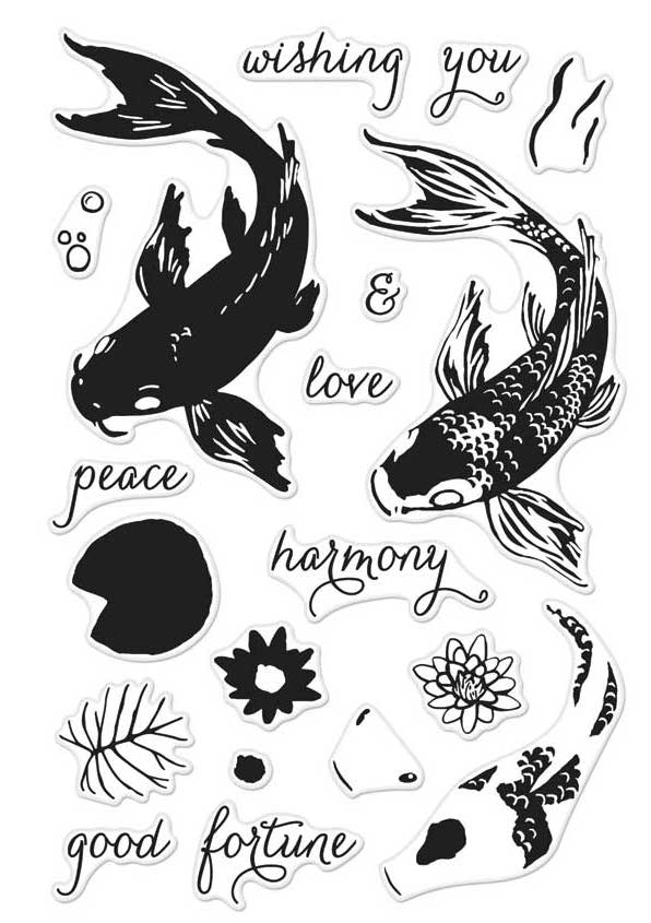 Hero Arts Clear Stamps Color Layering KOI CM127 zoom image