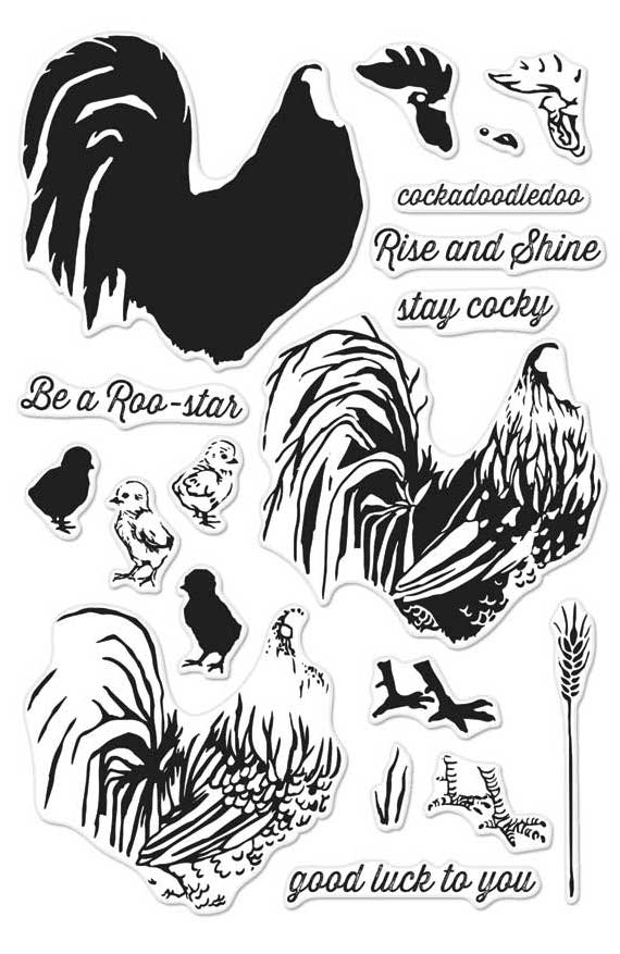 Hero Arts Clear Stamps Color Layering ROOSTER CM125 zoom image