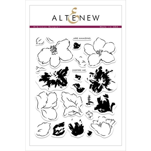 Altenew HIBISCUS BOUQUET Clear Stamp Set ALT1543 Preview Image