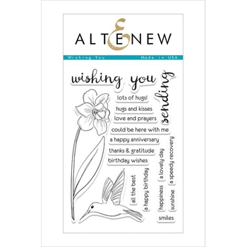 Altenew WISHING YOU Clear Stamp Set