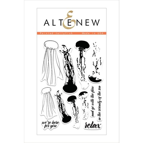Altenew PAINTED JELLYFISH Clear Stamp Set Preview Image